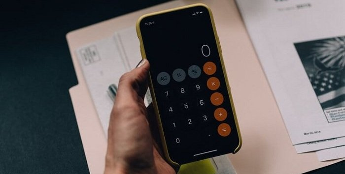 Калькулятор на телефоне