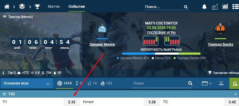 победа Динамо Минск