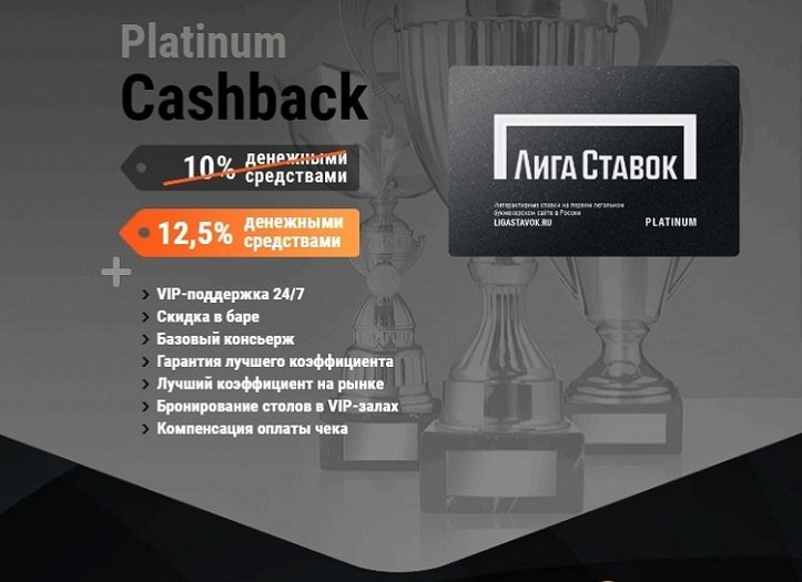 Сashback букмекера для VIP клиентов